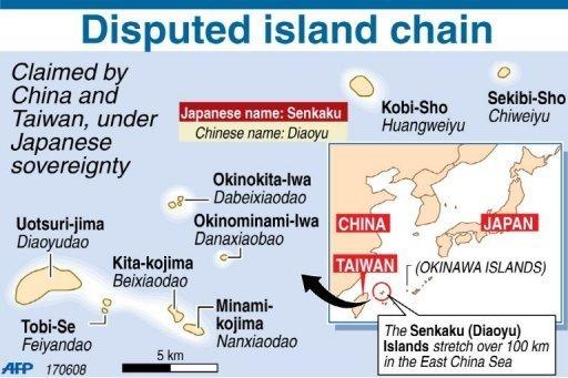 [China vs Taiwan vs Japón] Disputa territorial en las islas Senkaku/Diaoyu Daiyu-islas-problemas