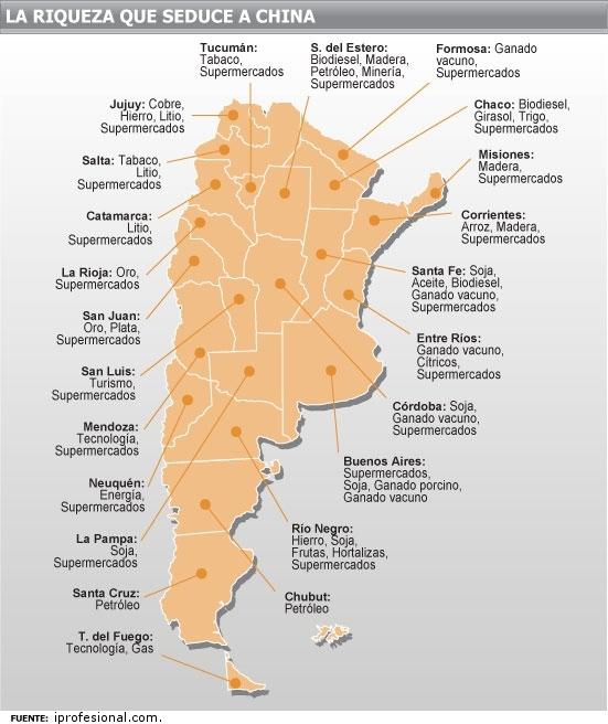 en las 23 provincias de Argentina. Mapa elaborado por iprofesional