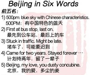 ¿Cómo describirías la ciudad de Pekín?