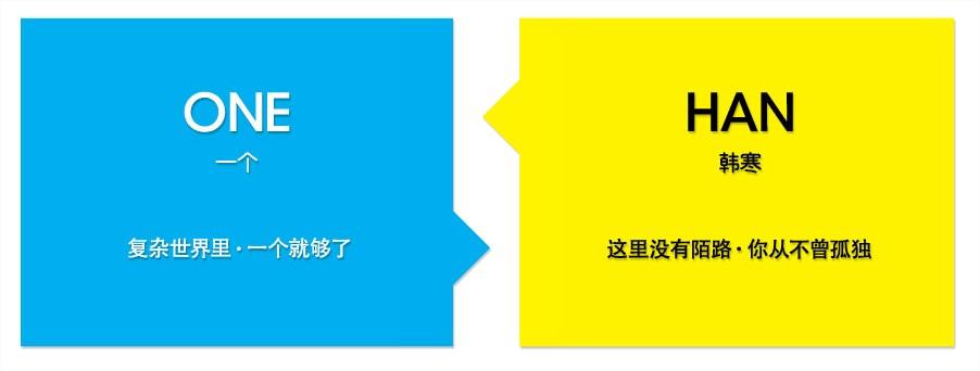 """El nuevo espacio de Han Han está dividido en dos. A la izquierda, su revista digital, bajo el eslogan de: """"En el complicado mundo en el que vivimos, """"Uno"""" es suficiente"""".  A la derecha, su espacio más personal, publicitado como: """"Aquí no hay extraños, nunca te volverás a sentir solo""""."""